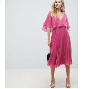 ASOF Flutter Sleeve Midi Dress